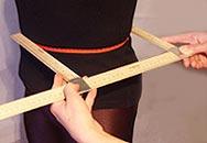 d — передне-задний (поперечный) диаметр талии