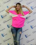 Работа Яны, комбинированная блузка, мягкий лиф