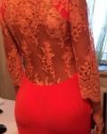 Красное платье от Ольги Золотенковой